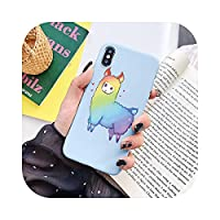 Ai_xiaomojiFor iPhone 11 Pro Max 12 Mini X XS Max XR TPU Cover For iPhone 7 8 6 S 6S Plus 5 5S SE 2020Funda用のかわいいアルパカパターン電話ケース-ytcaise-For iPhone X XS