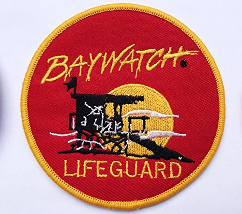 Aufnäher für Badebekleidung, Baywatch-Lifeguard-Logo, bestickt, zum Aufnähen und Aufbügeln