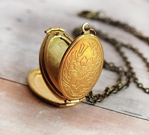 Ornate supreme Polished Bronze Genuine Free Shipping Toned Swirl Own Family Your Locket Insert