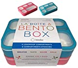 6 Compartment Lunch Boxes. Bento Box Lunchbox Containers for Kids, Boys Girls Adults. BPA-Free...
