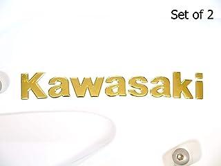 180X22mm Oro Kawasaki Moto Emblema Insignia Moto Tanque de Combustible Gasolina Pegatina