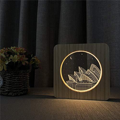 Die Oper Holz Nachtlicht Konsole Lichtschalter Gravur Lichter für das Geschenk der Freundschaft Raumschiff Fan. Exklusiv.