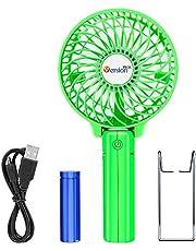 VersionTek usb扇風機 携帯扇風機 卓上 ミニ ハンディファン 手持ち 扇風機 小型 充電 電池/usb給電 3段階風量調節 コードレス