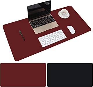 Leather Desk Mat Protective Cover, Mouse Pad, Double Sided Color Non-Slip PU Leather Desk Mat, Laptop Desk Mat, 80 x 40cm ...