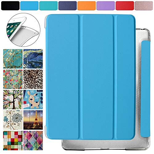 DuraSafe Cases for Apple iPad Mini 4th Gen 2015-7.9 Protective Durable Shock Proof Cover with Supportive Dual Angle Stand & Honeycomb Pattern Clear Back - Blue