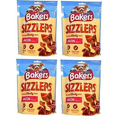 Baker Bacon Sizzlers Dog Treats 4 x 90g