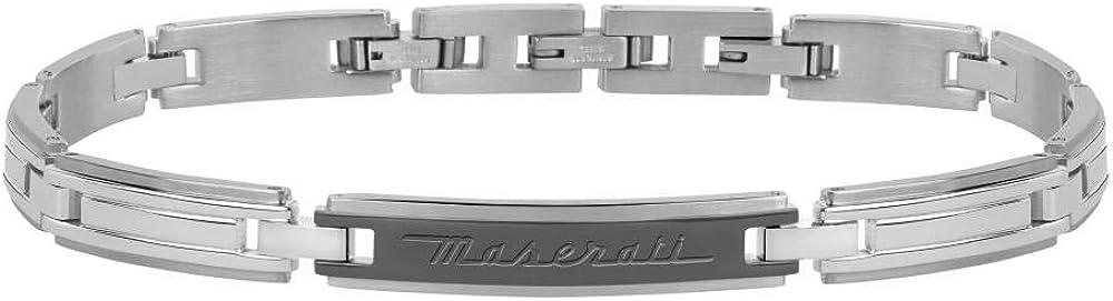 Maserati collezione jewels bracciale da uomo  in acciaio 8033288819509