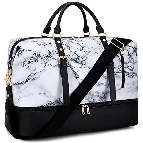 LEDAOU Bolsa de viaje para hombre o mujer, con compartimento para zapatos, grande, bolsa de deporte