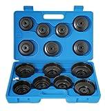 Laser 3222 - Juego de llaves para filtro de aceite (15 piezas)