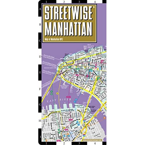 Streetwise Manhattan: City Center Street Map of Manhattan, New York
