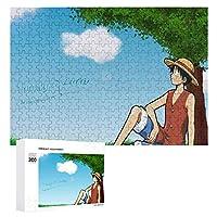 ワンピースモンキー・D・ルフィ大人と子供のためのジグソーおもちゃファッションデコレーション人気のアニメーションかわいい製品木製パズルチャレンジファミリーゲーム300ピース