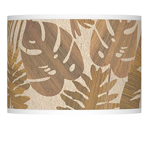 Tropical Woodwork Giclee Lamp Shade 13.5x13.5x10 (Spider) - Giclee Glow
