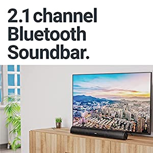 Majority Teton Bluetooth Soundbar for TV | 120 Watts with 2.1 Channel Sound | Built-in Subwoofer with Remote Control…