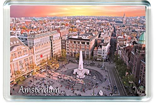 J005 Amsterdam Jumbo Imán para Nevera Netherlands Travel Fridge Magnet