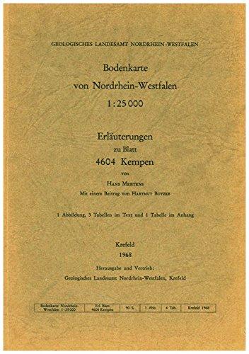Bodenkarten von Nordrhein-Westfalen 1:25000 / Kempen