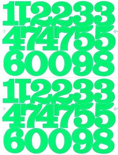 (シャシャン)XIAXIN 防水 PVC製 数字 ナンバー ステッカー セット 耐候 耐水 ローマ字 数字 キャラクター 表札 スーツケース ネームプレート ロッカー 屋内外 兼用 TS-520 (グリーン, 2点)