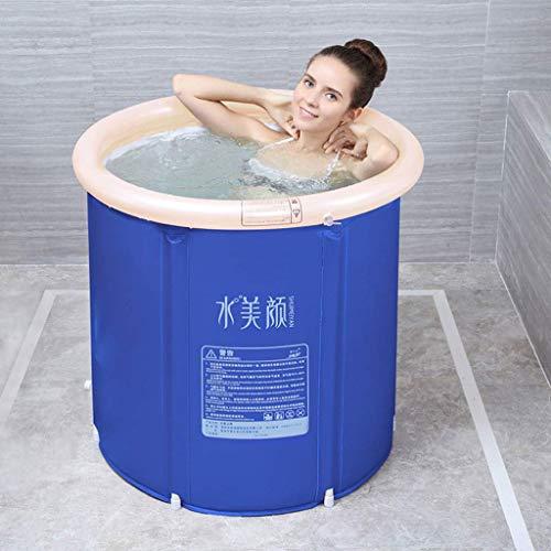 Folding-Badebottich, Zylindrische Home Health Badewanne, Aufblasbare Badewanne, Multifunktionsbewegliche Baby Tub-65x70cm / 70x70cm (Color, 70x70cm),65x70cm