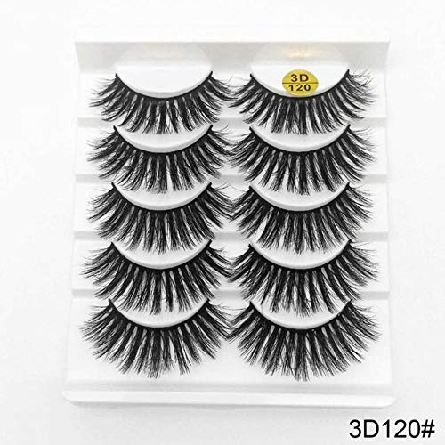 KADIS 5/8 Pairs False Eyelashes Natural Wispy Fluffy Dramatic Volume Fake Lashes Extension 13-25mm Handmade Wispy Soft Eye Makeup,120,sexysheep
