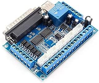 5 ejes CNC Breakout Board Controlador de motor paso a paso MACH3 Controlador de módulo de control de puerto paralelo con acoplador óptico Cable USB - Azul
