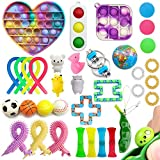 35 Pack Sensory Fidget Toys Set, Push pop pop Autism Special Dimple Sensory Toys Sets for Kids Adults, Stress Relief and Anti-Anxiety Toys Assortment, Special Puzzle Balls Party Favors