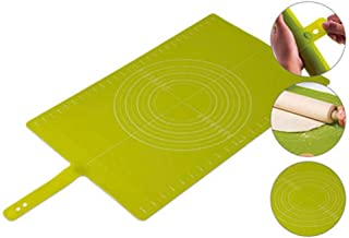 Portable Baking Mat, Food Grade Silicone, Buckled Design, More Precise, Non-Slip, Smooth Surface, Large Area, Not Easy To Move, Green