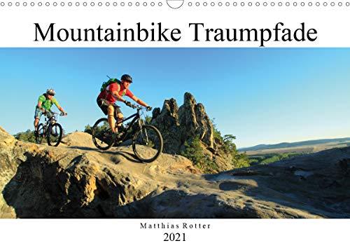Mountainbike Traumpfade (Wandkalender 2021 DIN A3 quer)