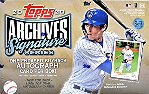 2020 Topps Archives Signature Series MLB Baseball Active Player Edition Baseball (ONE #'d encased autograph card)