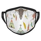 best& Tribal Elementos Decorativos Set Cara Escudo Boca Cuello Bufanda Unisex A Prueba de Viento Transpirable Reutilizable Anti Polvo Escudo Negro