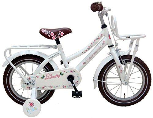 Vélo Enfant Fille Liberty Urban 14 Pouces avec Roues de Stabilization Amovible Blanc
