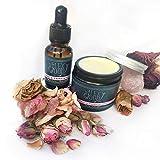 Set de regalo de rosas e incienso crema facial e serum : 100% natural, vegano, hidratante, antienvejecimiento, sin crueldad