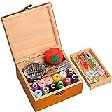 チヤミ ソーイングボックス 針箱 裁縫箱 裁縫ツール 裁縫セット 裁縫道具 木製ボックス