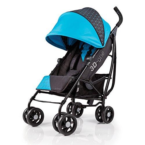 Summer Infant 3D One Convenience Stroller, Geometric Blue