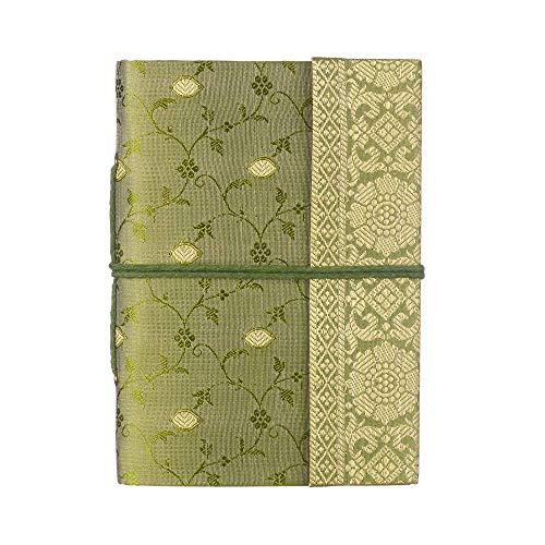 Paper High Gazzetta di Sari Notebook Medio, 110 x 160 mm, Verde