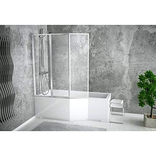 Azura Home Design - Bañera asimétrica Integra 150/170 cm x 75 cm...
