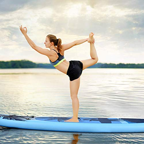 """Product Image 6: Goplus Inflatable Stand Up Paddle Board, 6.5"""" Thick SUP with Premium Accessories and Carry Bag, Wide Stance, Bottom Fin for Paddling, Surf Control, Non-Slip Deck, for Youth and Adult (Blue, 9.8ft)"""