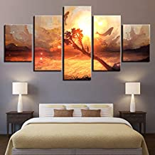 Canvas Pictures Home Decor Dolphin In Abstract Sky Paintings Wall Art Hd Prints Cartoon Poster