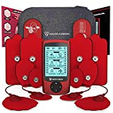 Dual Channel TENS EMS and Relax Muscle Stimulator, Electronic Pulse Massager Unit, 14 Electrode Pads, Travel Case