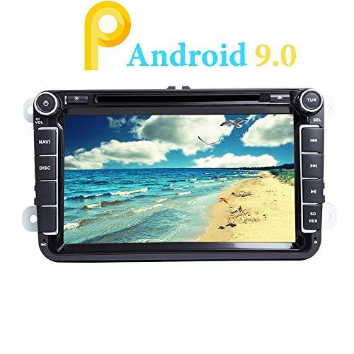 XISEDO 8' Android 9.0 Autoradio Quad Core Car Radio In-dash Car Stereo Schermo di Tocco e Lettore DVD per Volkswagen Golf/Passat/Caddy/Fabia (Autoradio)