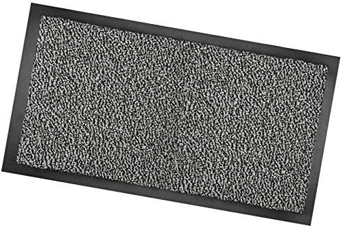 FOFO' Zerbino Ingresso Tappeto Antiscivolo per Interno e per Esterno tappeti ASCIUGAPASSI CM.40x60 (40x60, Grigio)