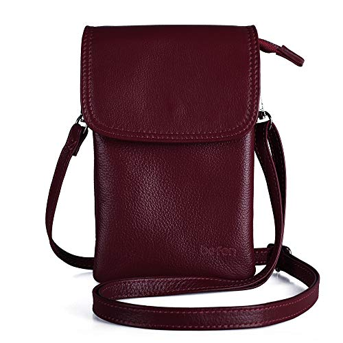 Genuine Leather Phone Bag,befen Real Leather Phone Purse, Small Phone Cross...