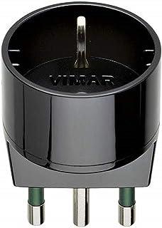 VIMAR RI.00303N Adattatore SICURY 250 V,spina 2P+T 16 A (grande) standard italiano tipo S17, presa 2P+T 16 A standard ital...