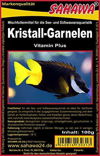 SAHAWA® Frostfutter 5X 100g Blister Kristallgarnelen Fischfutter Aquarium
