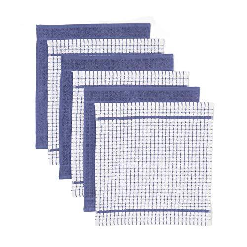 Carrefour Tex - Pack 6 Paños de Cocina 42 x 45 cm Azul