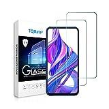 TQmate 2Pack, Kompatibel für Huawei P Smart Pro/Huawei Y9s/Honor 9X Panzerglas, Bildschirmschutzfolie, gehärtetes Glas mit 9H Festigkeit, Kratzfest, ölgeschützt, 2.5D Ro& Edge