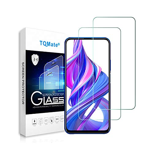 TQmate 2Pack, Kompatibel für Huawei P Smart Pro/Huawei Y9s/Honor 9X Panzerglas, Displayschutzfolie, gehärtetes Glas mit 9H Härte, Kratzfest, ölgeschützt, 2.5D Round Edge