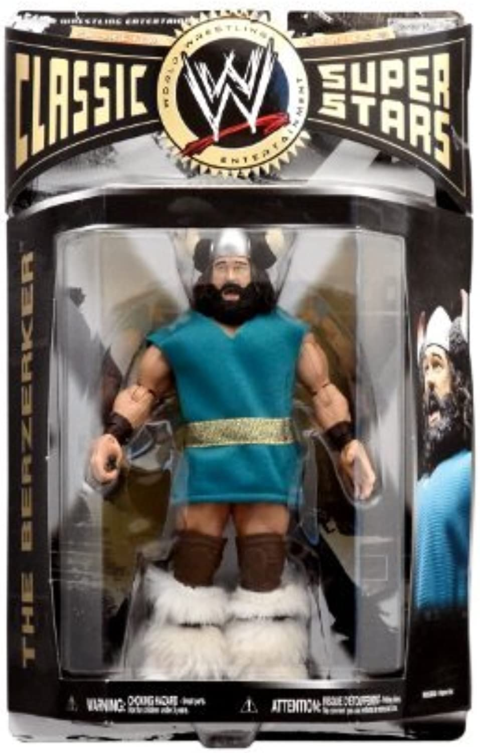 WWE Wrestling Classic Superstars Series 23 Action Figure Berzerker by Jakks Pacific by Jakks Pacific