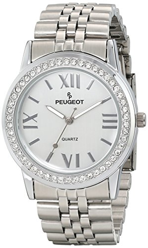Peugeot Women's 7082S Analog Display Japanese Quartz Silver Watch