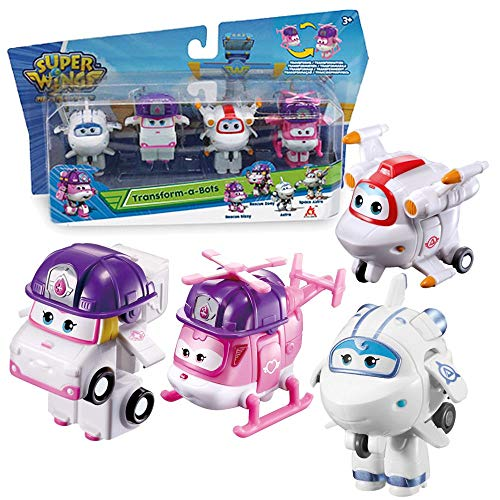 Flugzeuge Zoey, Astra, Space Astro & Dizzy | Super Wings | Set Mini Transform