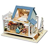 Kit de Casas de Muñecas Rompecabezas 3D Casa de muñecas en miniatura de madera DIY Kit Light Legend Of The Blue Sea Series Dollhouse Accesorios Casas de muñecas con muebles para la idea de Regalo del
