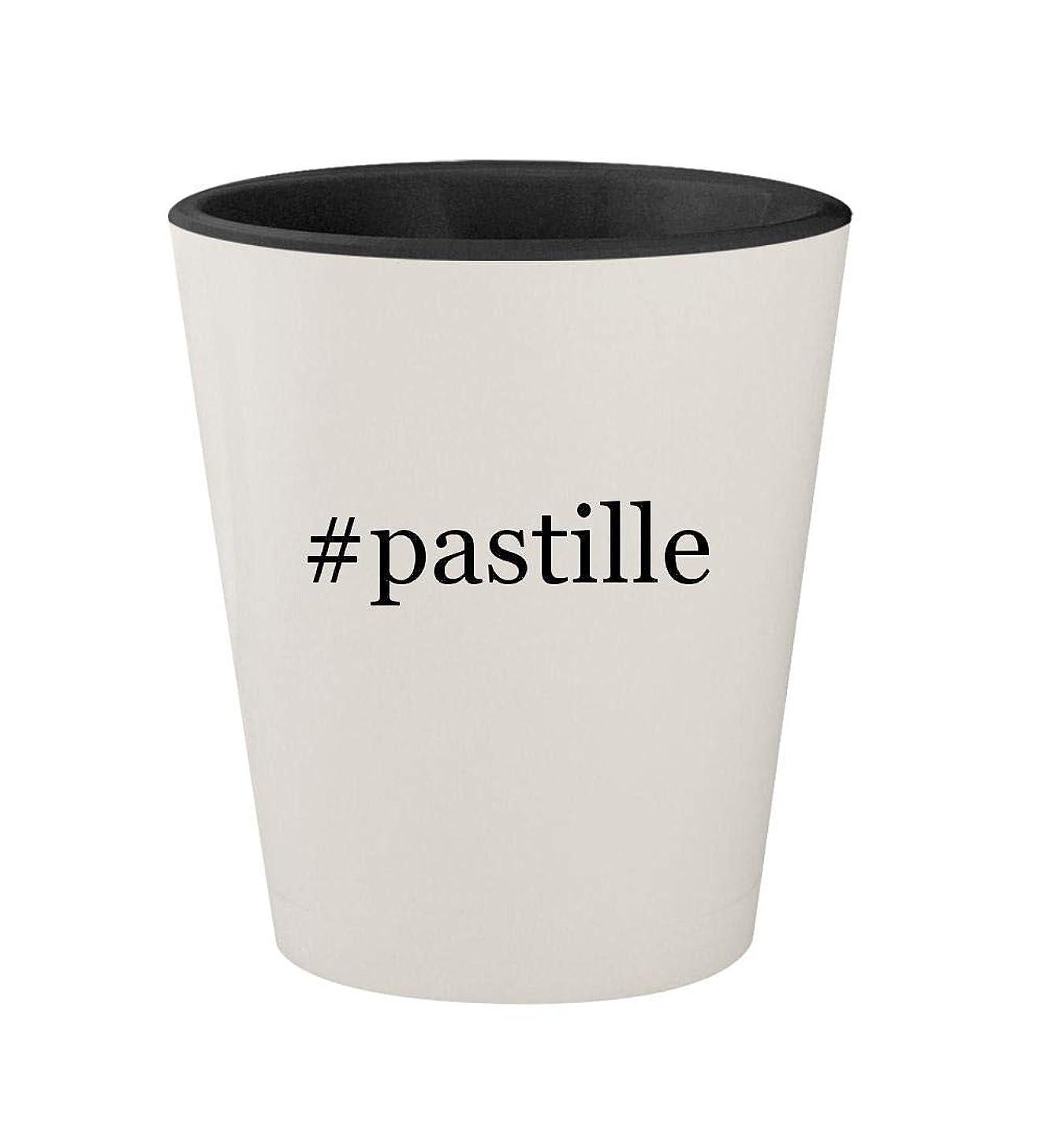 #pastille - Ceramic Hashtag White Outer & Black Inner 1.5oz Shot Glass